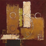 Tavla av Sedalia david - Circles On Red-brown I