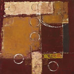 Tavla av Sedalia david - Circles On Red-brown Ii