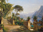 Tavla av Aagaard carl f. - Lodge On Lake Como