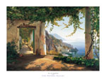 Tavla av Aagaard carl f. - View To The Amalfi Coast