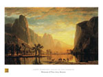 Tavla av Bierstadt, alber - Valley Of The Yosemite