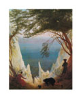 Tavla av Friedrich, caspa - The Chalk Cliffs Of Rugen
