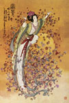 Tavla av Chinese art - Goddess Of Wealth